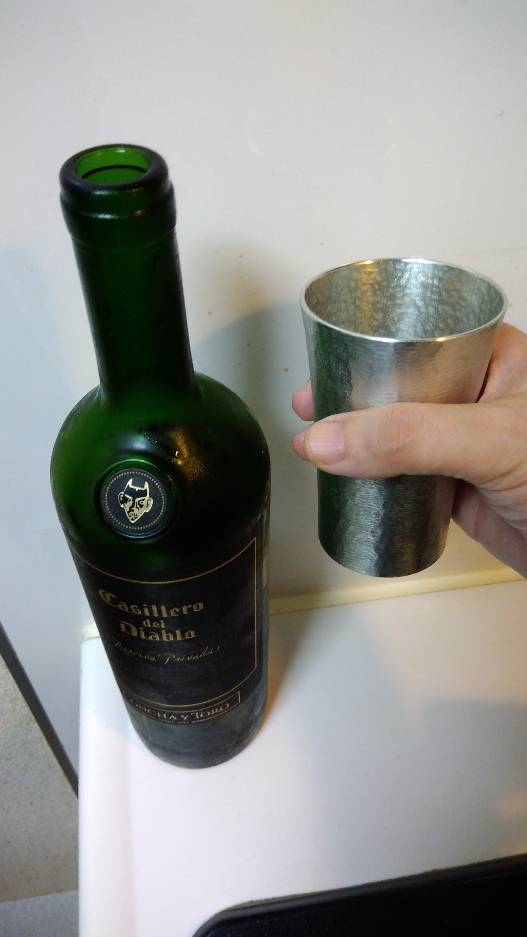 P 20170918 153432 - Tin cup - Best cup to feel coolness in fingers!