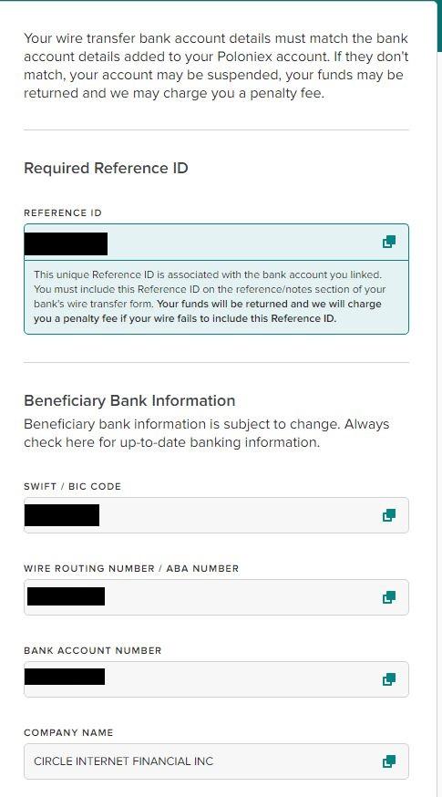 Poloniex Bank Setting withdraw1 - 仮想通貨のドルの出金・入金~Poloniex 銀行設定~海外送金する方法