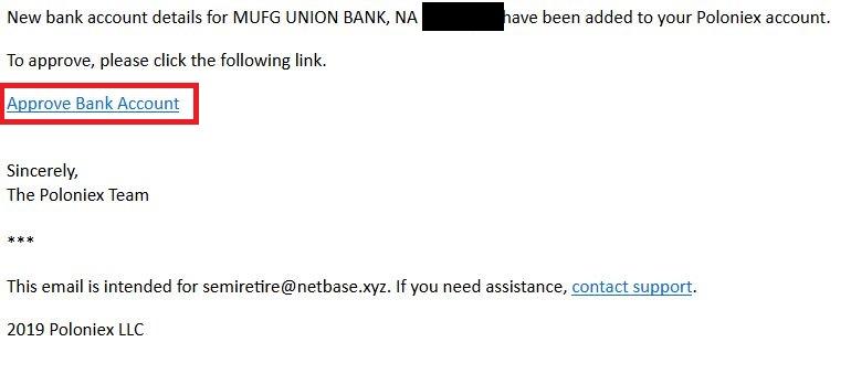 Poloniex Bank setting email conf - 仮想通貨のドルの出金・入金~Poloniex 銀行設定~海外送金する方法
