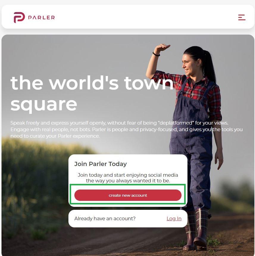 Parler1 - Parlerのアカウントの開設方法~Twitter/Facebookに取って代わるか?